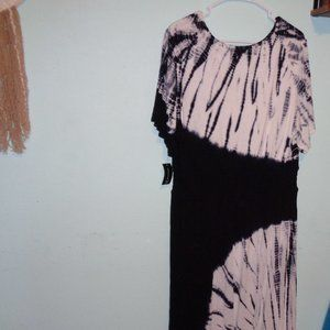 NWT INC Black Dream Tie Dye Maxi Dress 2x